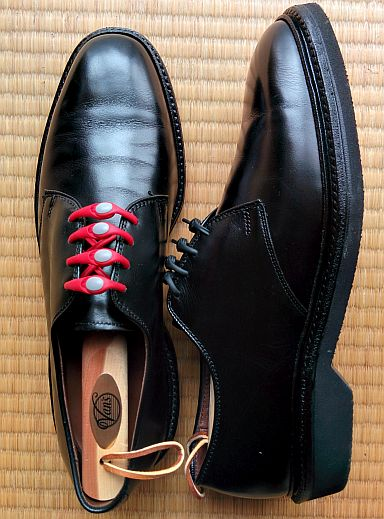 Allen Edmonds Globetrotter with Red Hickies