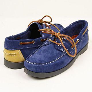 Suede Boat Shoe: Navy