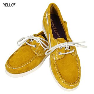 Suede Boat Shoe: Yellow