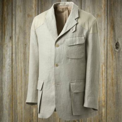 Nigel Cabourn Mallory Jacket Linen: Ivory