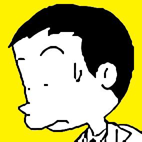 自画像(植田まさし風)